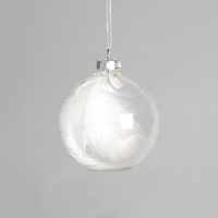Lovely White Feather Bauble image