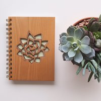 Cardtorial Wooden Journal - Succulent image