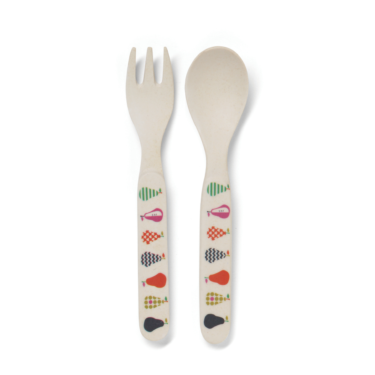 Pear Salad Bamboo Meal Set with Cutlery image