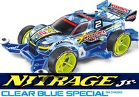Tamiya Mini 4WD Nitrage Jr. Clear Blue Special (MA Chassis)