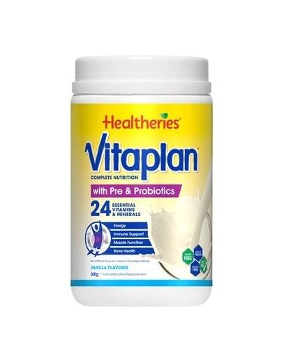 Healtheries: Vitaplan with Pre & Probiotics - Vanilla (500g)