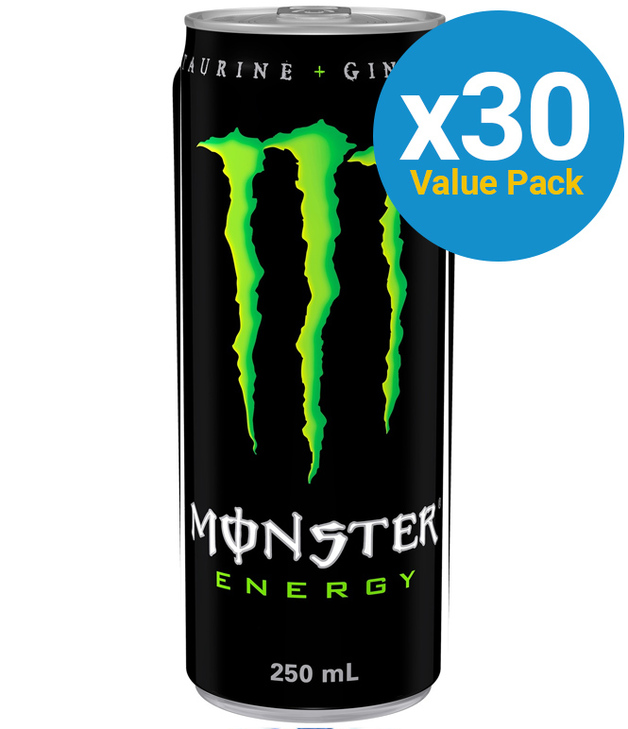 Monster Energy Drink Original 250ml (30 Pack)