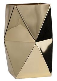 General Eclectic Geo Vase - Brass