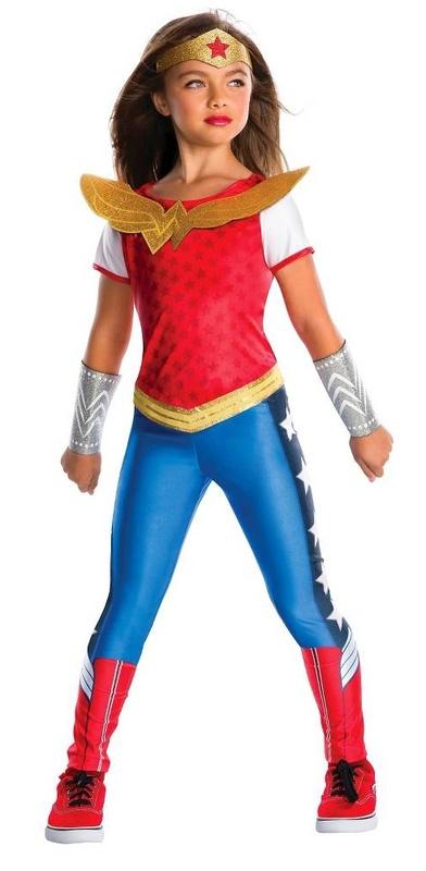 DC Super Hero Girls: Wonder Woman Girls' Deluxe Costume - (Size 6-8)