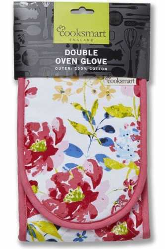 Cooksmart Double Oven Gloves - Floral Romance