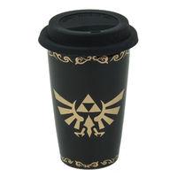 Legend of Zelda: Ceramic Travel Mug - Triforce