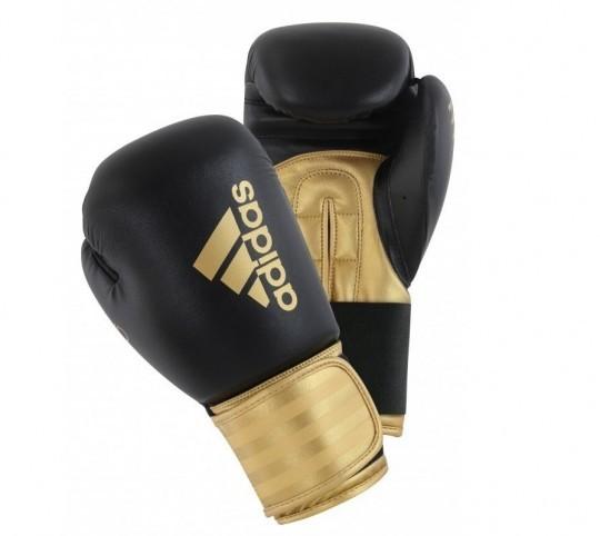 Adidas Hybrid Boxing Gloves 12oz (Black/Gold)