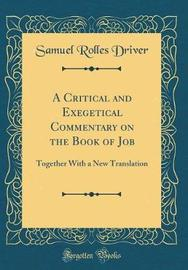 A Critical and Exegetical Commentary on the Book of Job by Samuel Rolles Driver