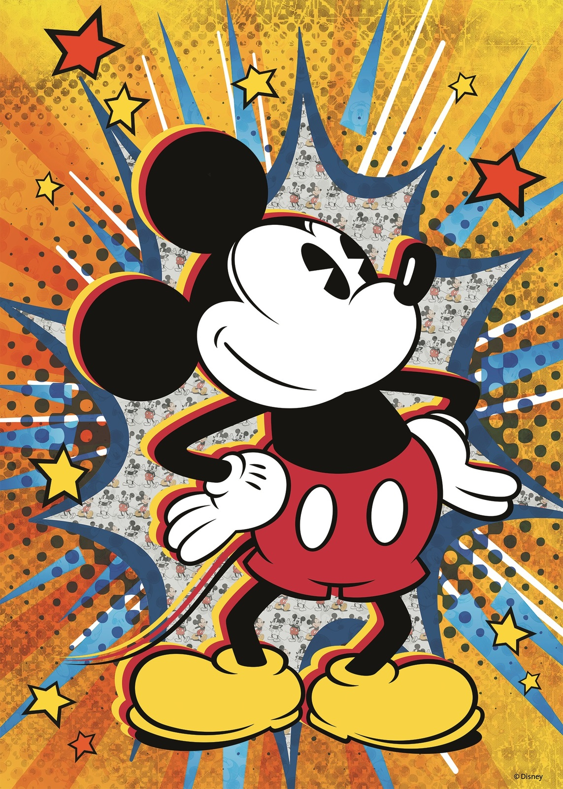 Ravensburger: 1,000 Piece Puzzle - Retro Mickey Mouse image