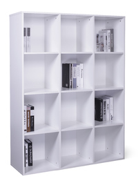 12 Cube Storage Cubby - White