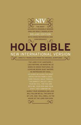NIV Deluxe Hardback Bible by New International Version