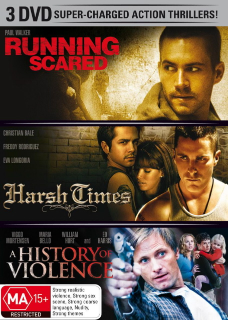 Running Scared (2006) / Harsh Times / A History Of Violence (3 Disc Set) on DVD image