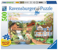 Ravensburger : Fishing Lesson Puzzle Lge Form 500pc