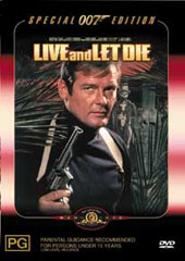 James Bond - Live & Let Die on DVD
