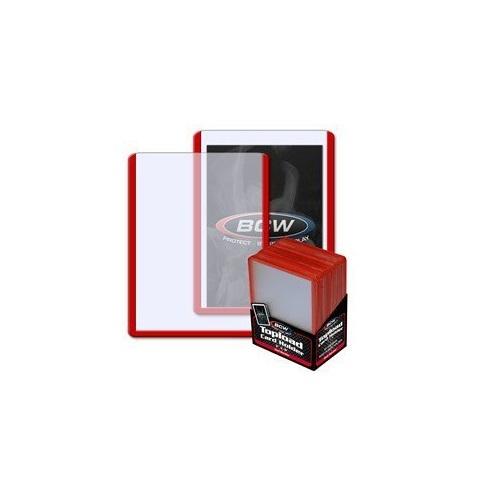 BCW: 3x4 Toploader Card Holder - Red Border