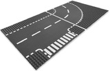 LEGO City - T-Junction & Curved Road Plates (7281)