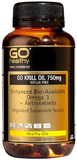 Go Healthy GO Krill Oil 750mg Reflux Free (60 Capsules)