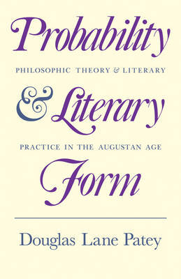 Probability and Literary Form by Douglas Lane Patey image