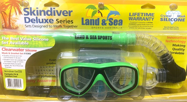 Land & Sea Clearwater Mask and Snorkel (Green)