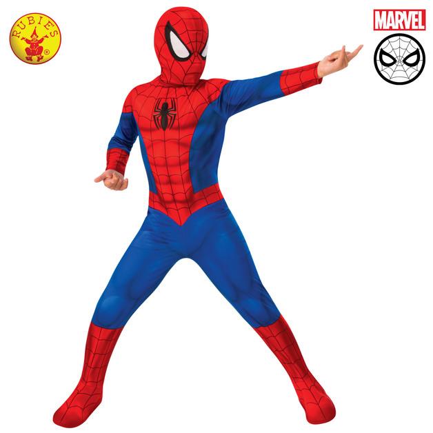 Spider-Man Classic Kids Costume (Size 6-8 Yrs)