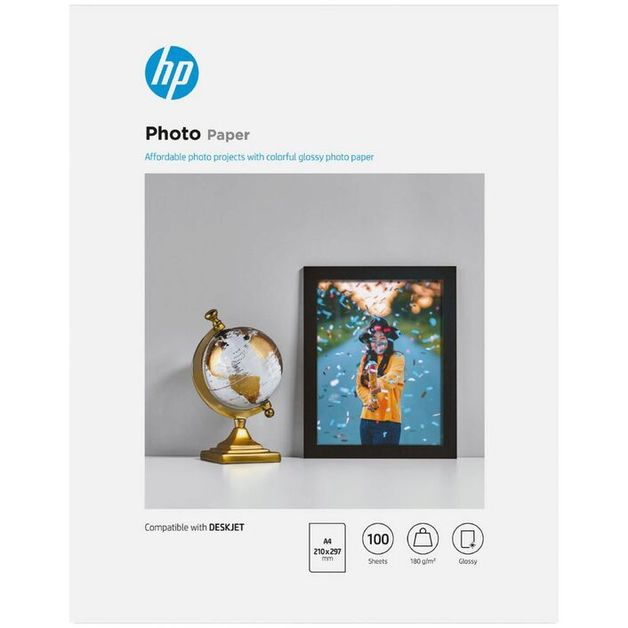 HP Everyday A4 Glossy 180gsm Photo Paper - 100 Sheets