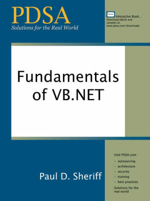Fundamentals of VB.NET by Paul D Sheriff image