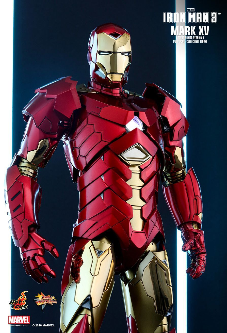 Iron Man 3: Mark XV Retro Armor - 1:6 Scale Figure image