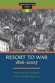 Resort to War by Meredieth Reid Sarkees image