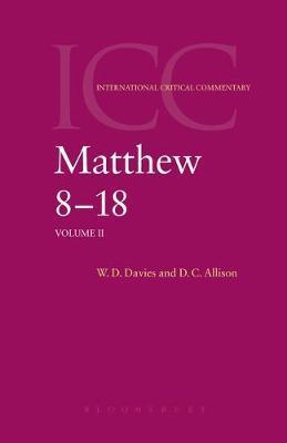 Matthew 8-18 by W.D. Davies image