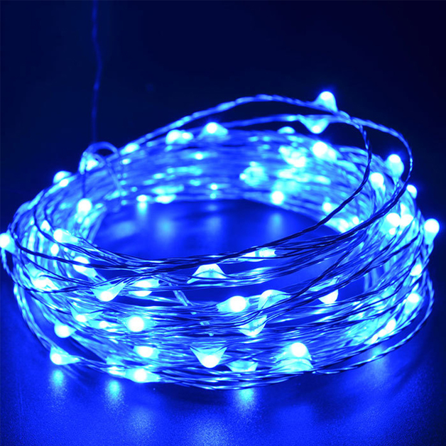 Set of Two 2.3m LED Copper Wire Seed String Lights - Blue