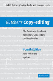 Butcher's Copy-editing by Judith Butcher