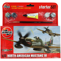 Airfix North American Mustang IV Starter Set 1/72 Model Kit