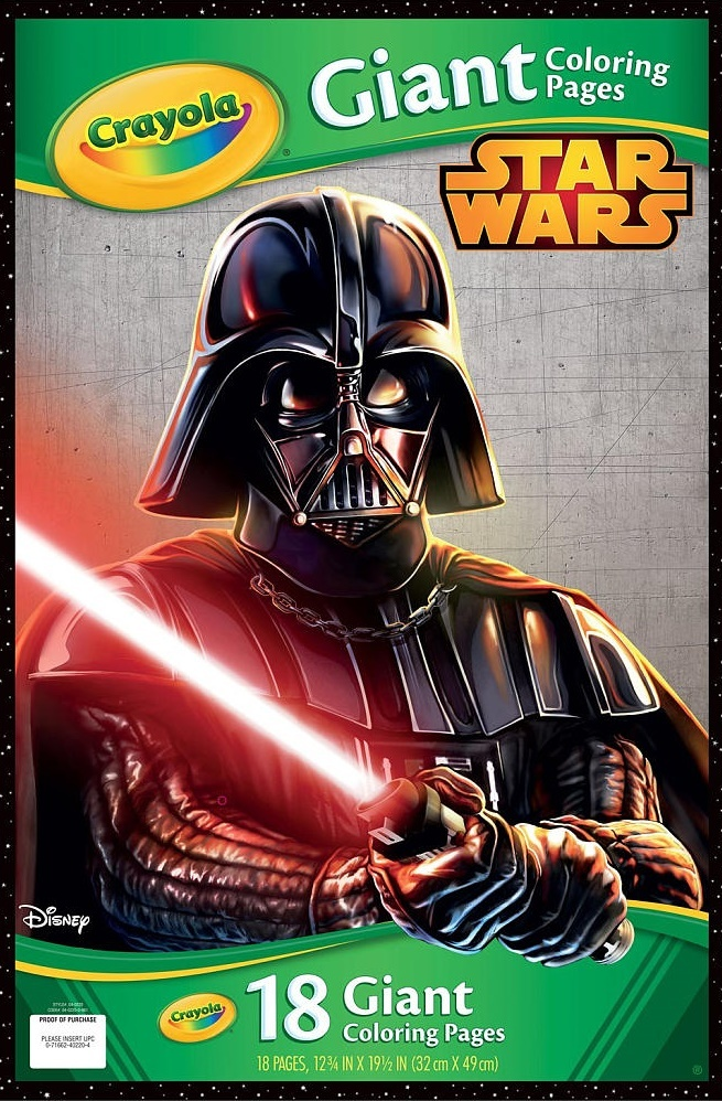 crayola giant colouring pages star wars toy at mighty ape nz