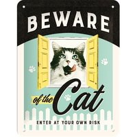 Nostalgic Art Tin Sign - Beware of the Cat