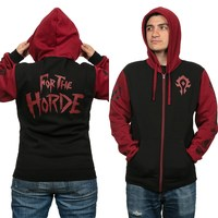 World of Warcraft Horde Pride Zip-Up Hoodie (L)