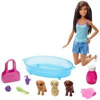 Barbie: Puppy Bath Time - Doll Playset (Latina)