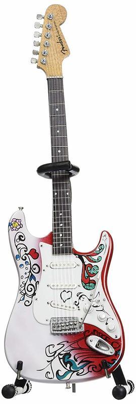 Axe Heaven: Miniature Replica - Jimi Hendrix Fender Guitar (Strat Monterey)