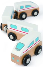 Hape Qubes Wooden Magnetic Bullet Train Set