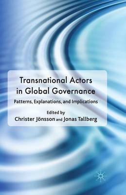 Transnational Actors in Global Governance by Christer Jonsson image