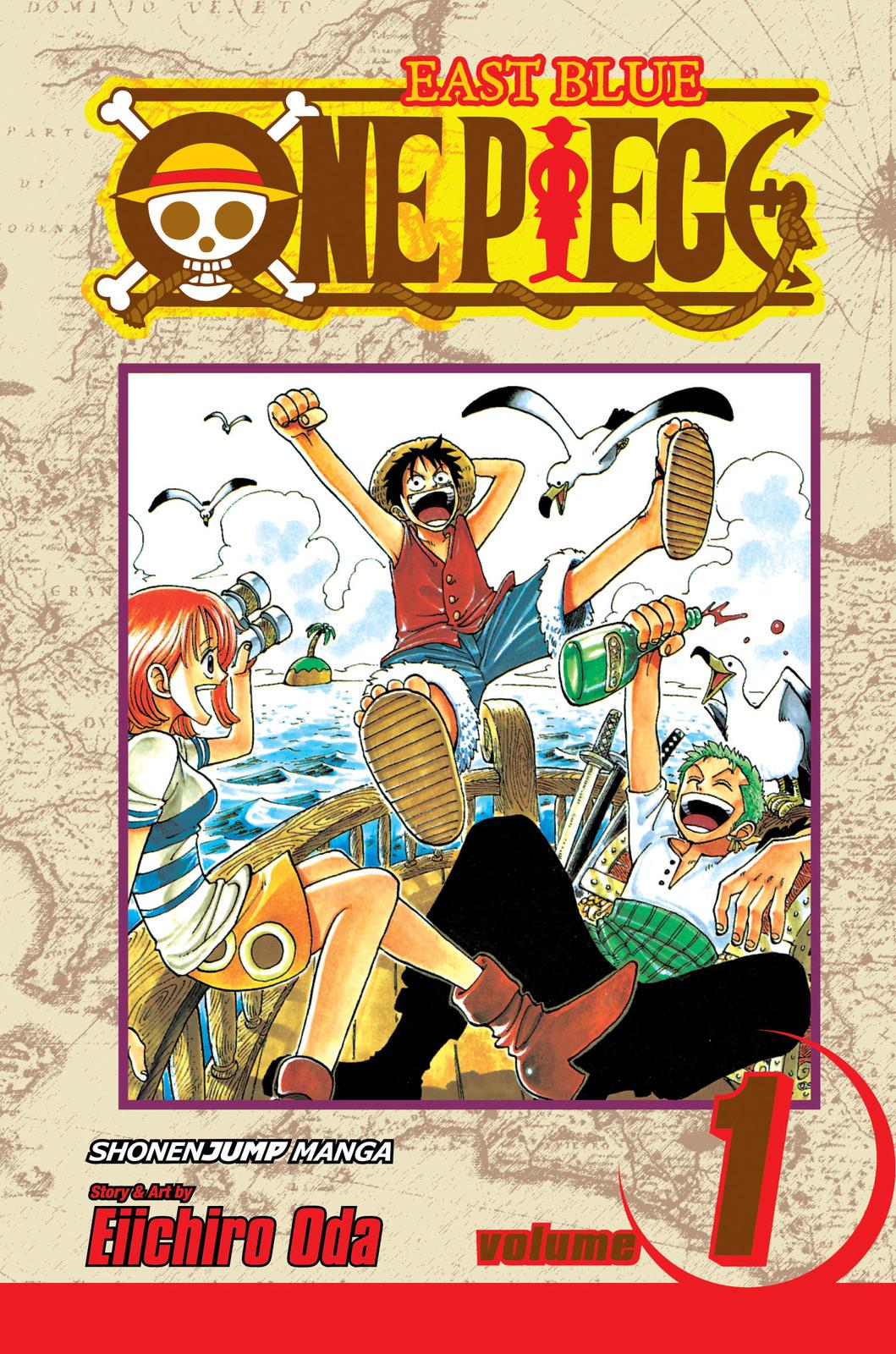 One Piece, Vol. 1: Romance Dawn by Eiichiro Oda image