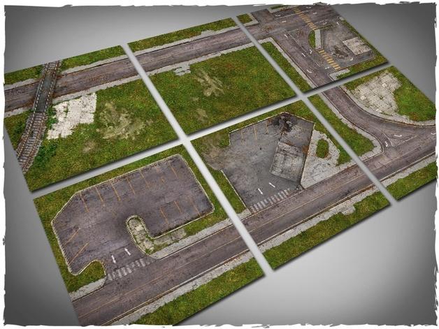DeepCut Studio Walking Dead Town Tiles (6pcs 2x2)
