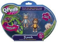 QPeas: Posable Mini Dolls - 3-Pack (Gigi & Rani)