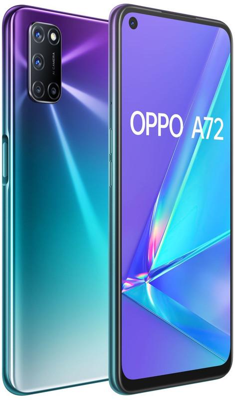 OPPO A72 Dual SIM (128GB/4GB RAM) - Aurora Purple