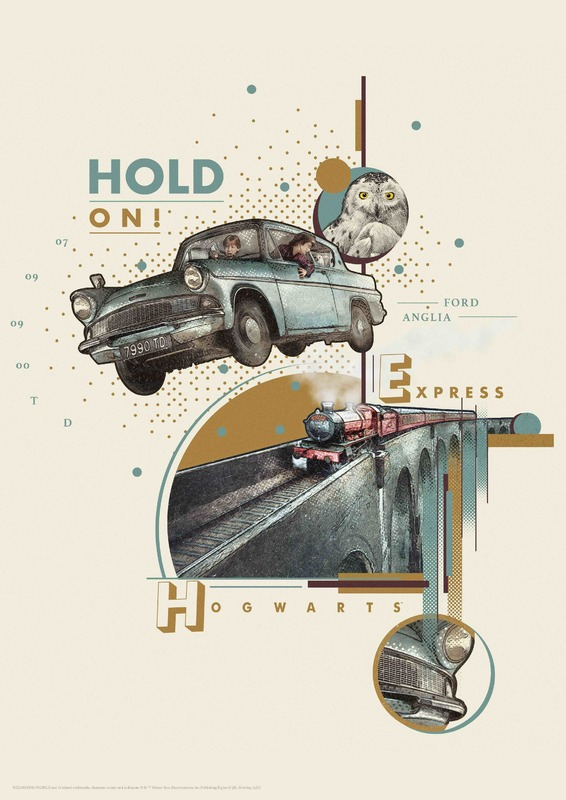 Harry Potter: Premium Art Print - Hold On! (Flying Car)