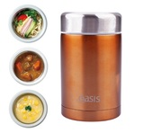 Insulated Stainless Steel Food Flask - 450ml (Copper)