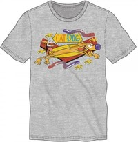 Catdog - Heather Grey Mens T-Shirt (Medium)