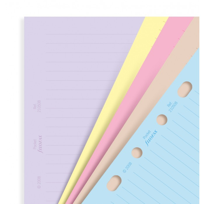 Filofax A5 Refill - Classic Assorted Coloured Notepaper 30 Sheets image