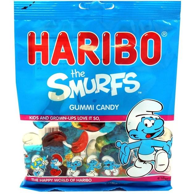 Haribo The Smurfs Gummi Candy (142gms)