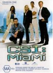 CSI - Miami: Season 1 - Episodes 1.1 - 1.12 (3 Disc Set) on DVD