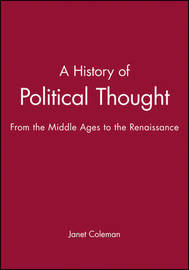 A History of Political Thought by Janet Coleman image